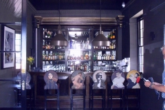 Custom-made-mild-steel-lamps-in-bar-which-hangs-from-the-roof