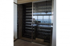 Custom-wine-chiller-with-stainless-steel-and-glass-doors