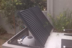 Alluminium-pool-pump-cover-lid-open