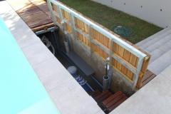 Underground-storage-system-lid-open-with-hydrolics..