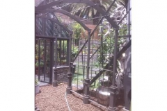 Painted-mild-steel-pergola-after-construction